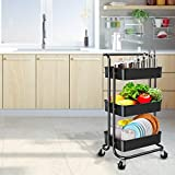 YANXUS 3-Tier Rolling Utility Cart with Handle