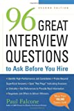 img - for 96 Great Interview Questions to Ask Before You Hire by Paul Falcone (2008-11-12) book / textbook / text book
