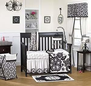 Amazon Com Cocalo Elsa Crib Set Black White 4 Piece