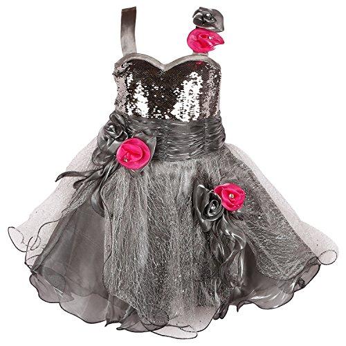 26bab72d17 Wish Karo Baby Girls Net Partywear Frock Dress - (fr1004)  Amazon.in   Clothing   Accessories