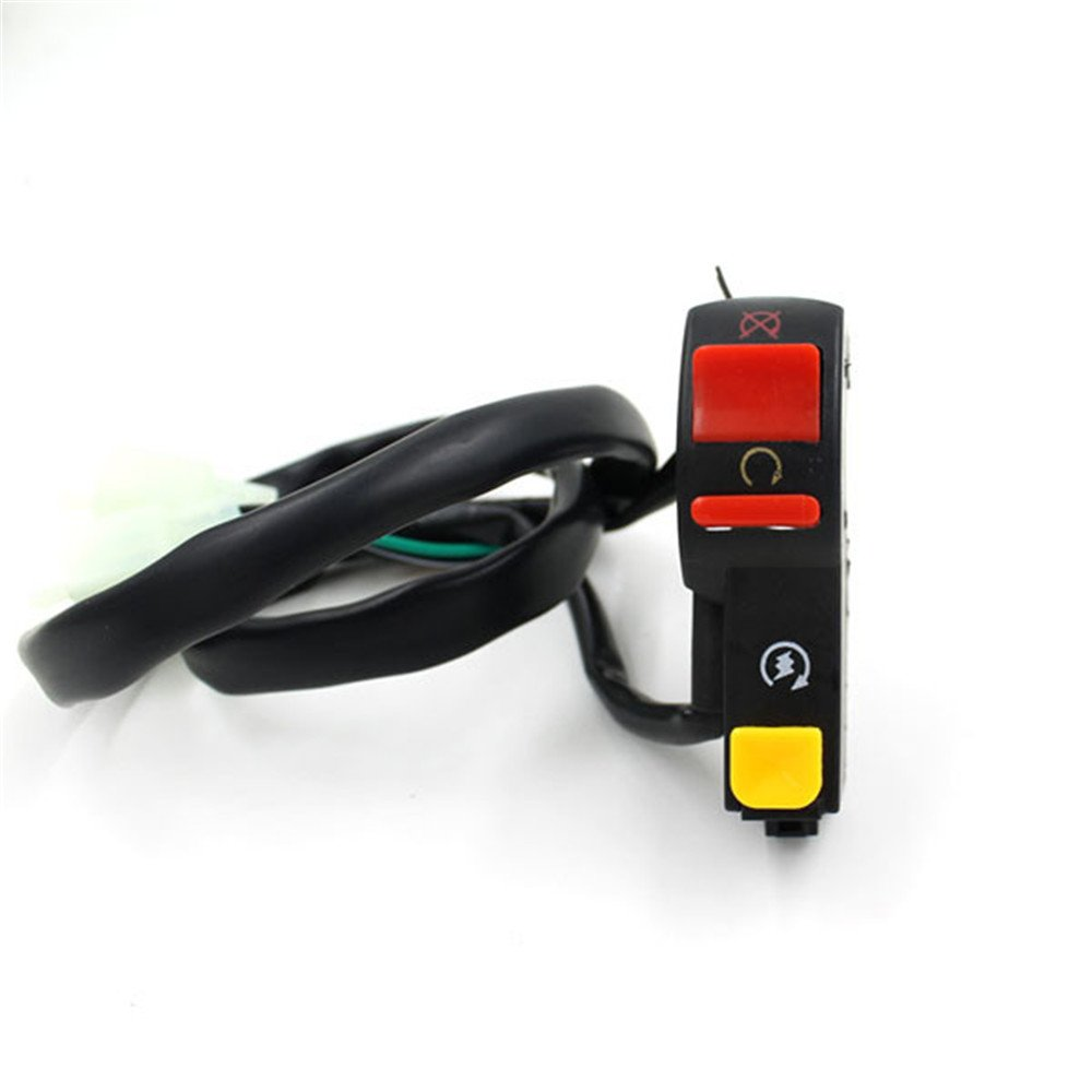 iztor 7/8 Motorcycle ATV Bike Handlebar Accident Hazard Light Switch ON OFF Button