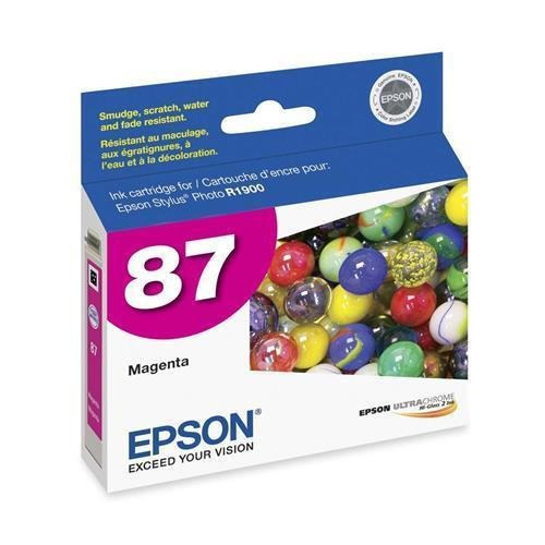 T087320 Epson UltraChrome Hi-Gloss 2 Pigment Magenta Ink Cartridge - Magenta - Inkjet - 1 Each ()