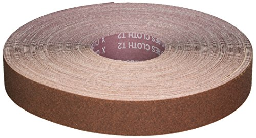 Norton K225 Metalite Abrasive Roll, Cloth Backing, Aluminum Oxide, 1-1/2'' Width x 50yd Length, Grit P60 (Pack of 5) by Norton Abrasives - St. Gobain