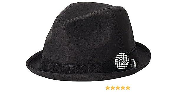 2c24e09d5fac4 Vans Off The Wall Mens Modernist Fedora Hat Cap - Black (S/M) at Amazon  Men's Clothing store: