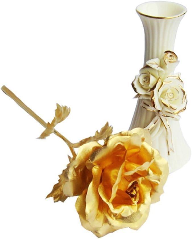 anniversaire Saint-Valentin f/ête des m/ères Tumao Rose artificielle couleur or No/ël remerciements d/écoration cadeau pour mariage