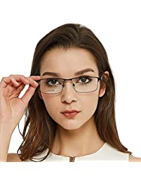 Unisex Lightweight Titanium Glasses for Men Non...