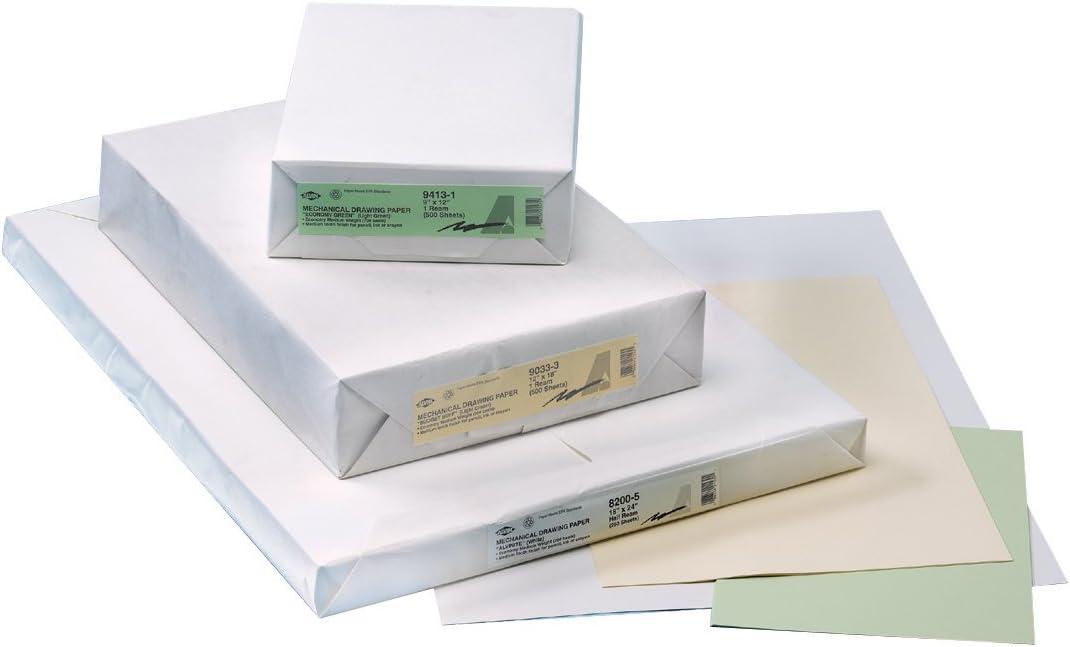 Alvin, Premium Heavyweight, Mechanical Drawing Paper, 250 Sheet - 18 x 24 Inches