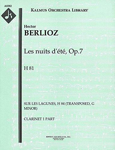 Les nuits d'été, Op.7, H 81 (Sur les lagunes, H 84 (transposed, G minor)): Clarinet 1 and 2 parts (Qty 4 each) [A8382]