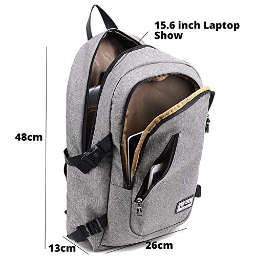 Fashion man laptop backpack usb computer backpacks male business travel bag backpack blue 481326cm