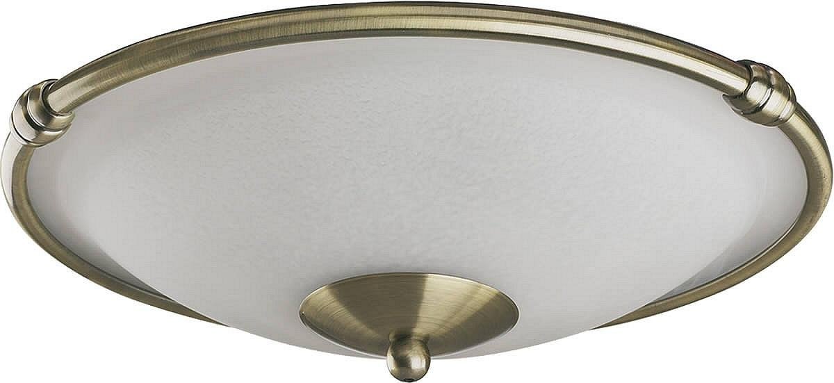 Quorum International 1190 Low Profile 2 Light Fan Light Kit, Antique Brass