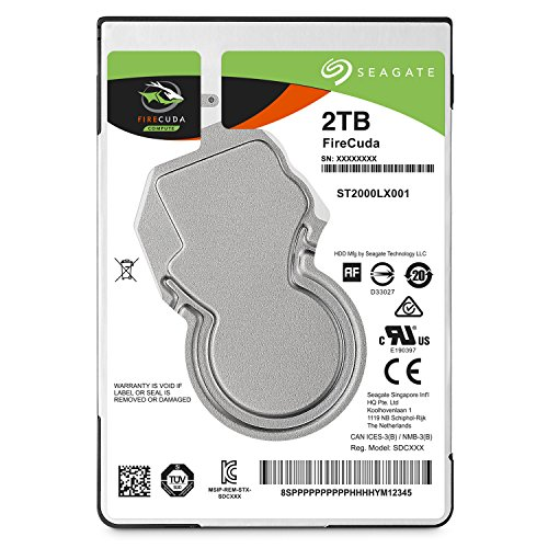 Seagate FireCuda Gaming SSHD 2TB SATA 6.0Gb/s 2.5-Inch Notebooks / Laptops Internal Hard Drive (ST2000LX001)