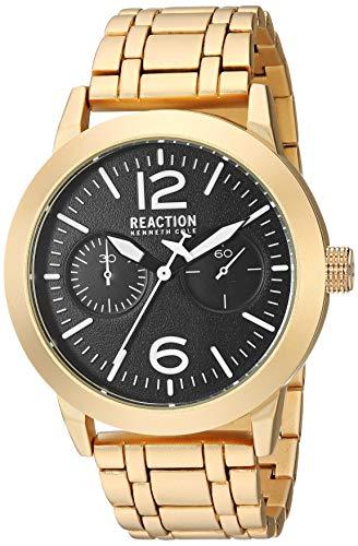 Kenneth Cole REACTION Men's Sport Japanese-Quartz Watch with Copper Strap, Gold, 21.5 (Model: RK50903003)