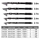 JSHANMEI Portable Pocket Telescopic Fishing Rods Carbon Fiber Spinning Rod Super Hard Travel