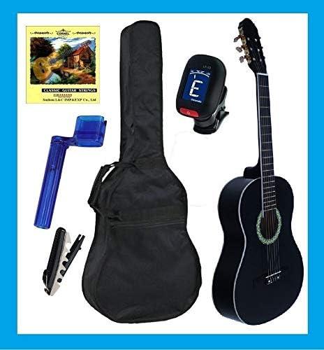 Pack de Guitarra Clásica RONDA Completo, Guitarra + Funda + Afinador + Cuerdas + Cejilla, Varios Colores (NEGRA): Amazon.es: Instrumentos musicales