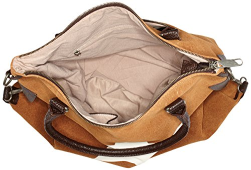 Bags4Less F3151 - Bolso de hombro Mujer Serraje Camel