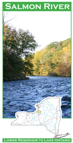 (Salmon River (New York) 11x17 Fly Fishing Map)