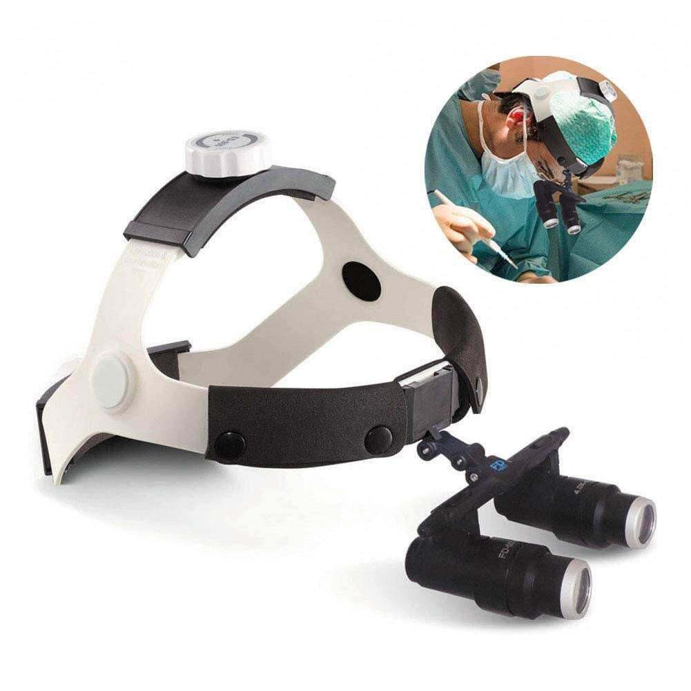 Handheld magnifier Double Eyes Hands Free Headband Magnifier, Visor Glasses Magnifying - for Dental Medical Surgical,Jewelry Appraisal, Watch Repair and Miniature Engraving,6X Multipurpose personal ma by LHBNH