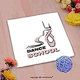 VROSELV Custom Cotton Microfiber Ultra Soft Hand Towel-Dance School Custom Pattern of Household Products(14''x14'')
