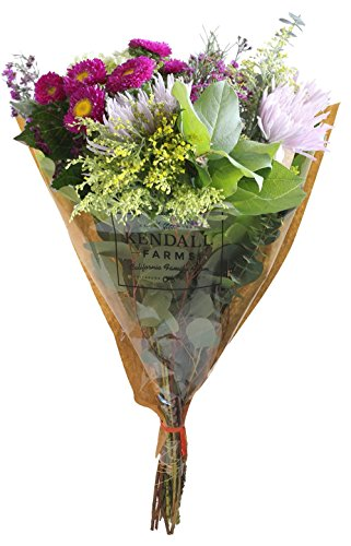 Flower Arrangements - Kendall Farms Bouquet - Farm Fresh & Locally Sourced Floral Beauty - Premium Pick of the Crop - Freshest Seasonal Selection - Family Owned and Operated Farm (Large Bouquet)](Black Orchid Bouquet)
