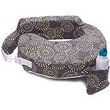 My Brest Friend Original Nursing Posture Pillow, Grey & Yellow Fireworks