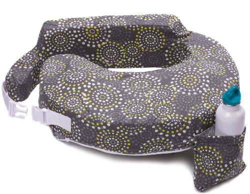 My Brest Friend Original Nursing Posture Pillow, Grey & Yellow Fireworks (Best Friend Nursing Pillow)