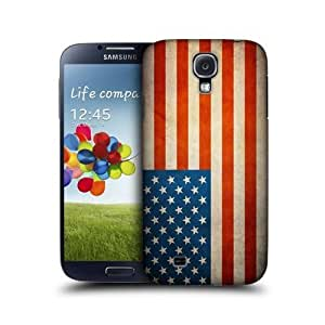 Vintage Flag Of Usa Glossy Back Case Cover For Samsung Galaxy S4 I9500