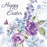16-Count Paper Lunch Napkins, Lilac Blossoms Happy Easter