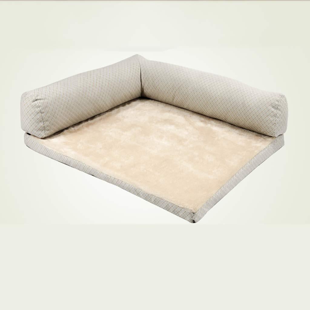 B S-7360cm B S-7360cm Dog Mat Washable Dog Bed Medium Large Dog Winter Pet Supplies Sofa Pet Nest Large pet nest (color   B, Size   S-73  60cm)