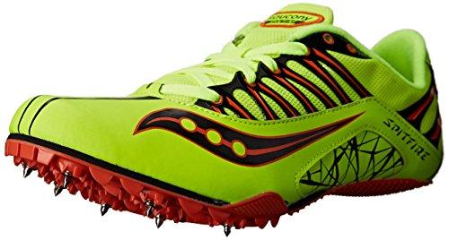 Saucony Men's Spitfire Track Shoe Citron/Orange fDHTCAj8nQ