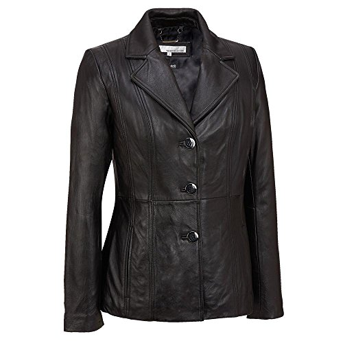 3 Button Womens Leather Jackets - 6