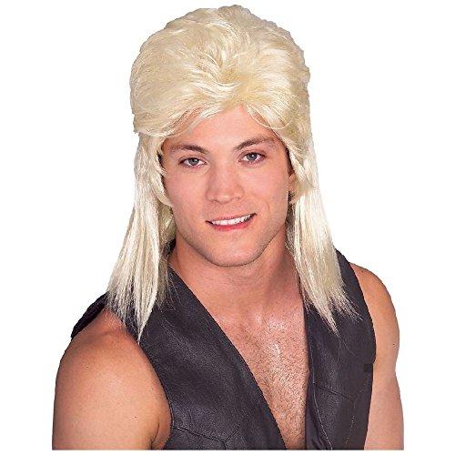 Mullet Wig Adult Mens Trailer Trash Redneck Hillbilly Funny Costume Accessory