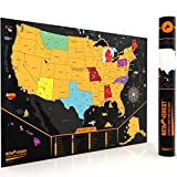 Scratch Off Map of The United States, Detailed Cartography, Travel Map with Outlined US States, Size 24X17