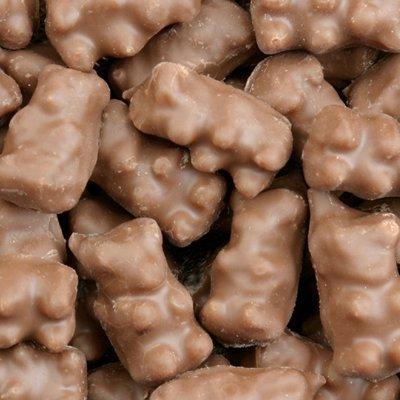 Milk Chocolate Covered Flavored Gummi Bears 1lb