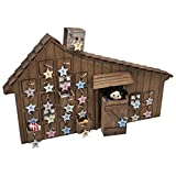 The Queen's Treasures Officially Licensed Little House On The Prairie Advent Calendar. Shaped Like the Beloved Home. Can Hang on Wall - Plus 24 Removable Ornaments