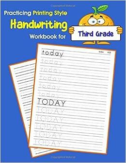 Amazon Com Practicing Printing Style Handwriting Workbook