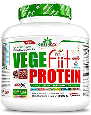 AMIX Greenday Vegefit Protein, Cacahuete-Choco-Caramelo - 2 kg