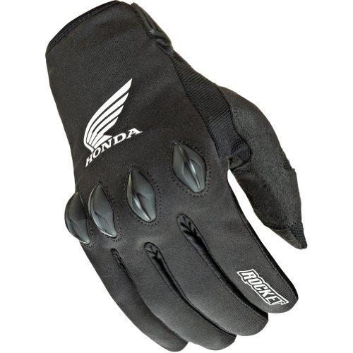 Joe Rocket Honda Nation Mens Black Textile Motorcycle Gloves - 2X-Large