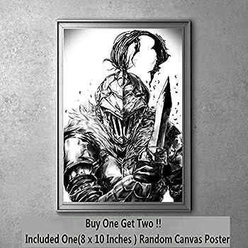 Horn of Bounty Huner Goblin Slayer Manga Aniem Canvas Art Print 20 x 25 cm,Not Included Frame