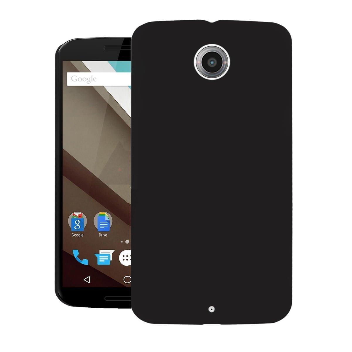 best website b776a 0a5ca Azzil Motorola Nexus 6, Premium Hybrid (Pudding) Matte Finish Soft Silicon  (Black) Back Case Cover for Motorola Nexus 6