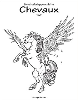 Amazon Com Livre De Coloriage Pour Adultes Chevaux 1 2