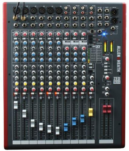 Allen & Heath ZED-12FX 6 Mic/Line 3 Stereo Mixer w/USB & FX