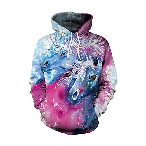 Ruanyi Unicorn Hoodies 3D Printed Hiphop Kawaii Unicornio Hooded Women Sweatshirt