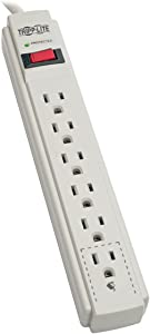 Tripp Lite 6 Outlet Surge Protector Power Strip, 4ft Cord, & $20,000 INSURANCE (TLP604)