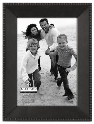 Malden International Designs Marquee Bead Matte Bronze Picture Frame, 5x7, Bronze