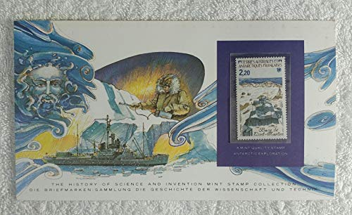 View Limited Edition - Antarctic Exploration - Postage Stamp (French Southern and Antarctic Lands, 1985) & Art Panel - The History of Science & Invention - Franklin Mint (Limited Edition, 1986) - Base View of Port-Martin South Pole