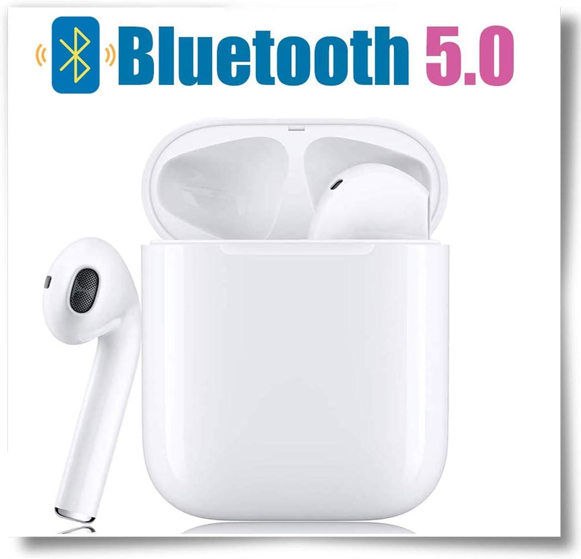 Cuffie wireless Bluetooth 5.0 con riduzione del rumore, cuffie sportive IPX5 impermeabili, cuffie stereo, cuffie ad alta definizione integrate per Android/ios