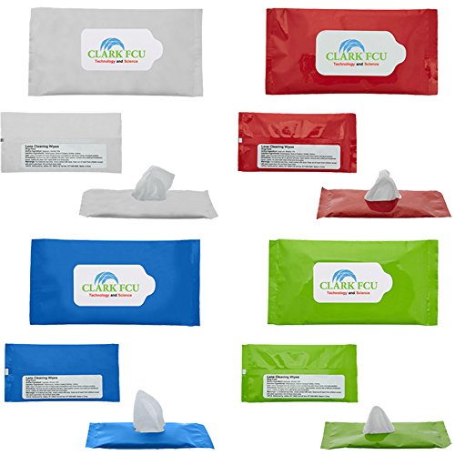 Screen & Lens Cleaner Wipes In Re - Sealable Pouch - 150 Quantity - $1.80 Each - PROMOTIONAL PRODUCT / BULK / BRANDED with YOUR LOGO / CUSTOMIZED by Sunrise Identity (Image #3)