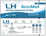AccuMed 25-Count Ovulation (LH) Test Strips, Clear and Accurate Results, FDA Approved and Over 99% Accurate