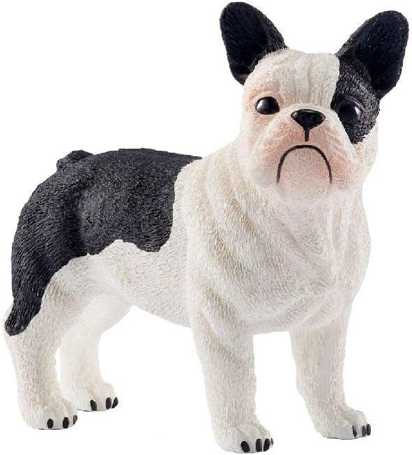 13877 Blanco Schleich-13877 Bulldog franc/és Color Negro