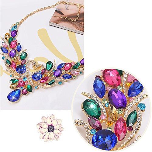 SEKAISORA Fashion Elegant Fine Diamond Necklace Temperament With Swan Set jewelry Set Chain by SEKAISORA (Image #4)